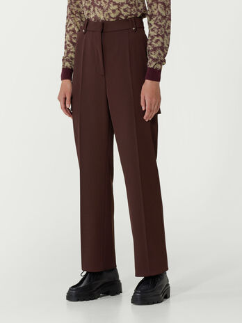 Wool gabardine cargo trousers