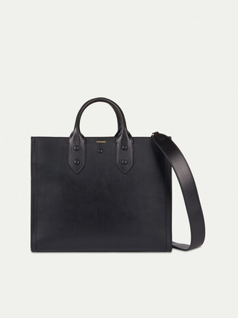 Medium leather Venezia shopper