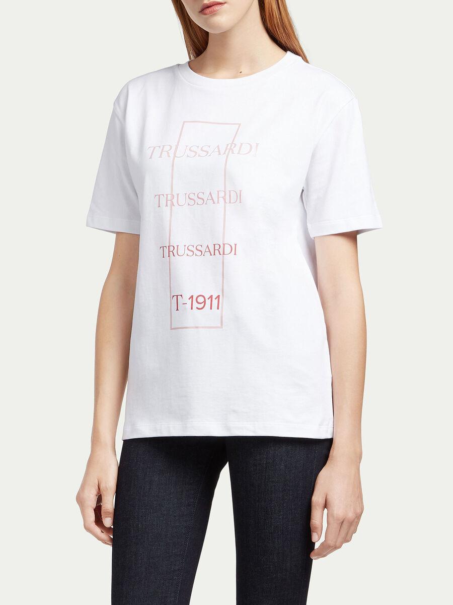 Camiseta de punto compacto y logo degradado