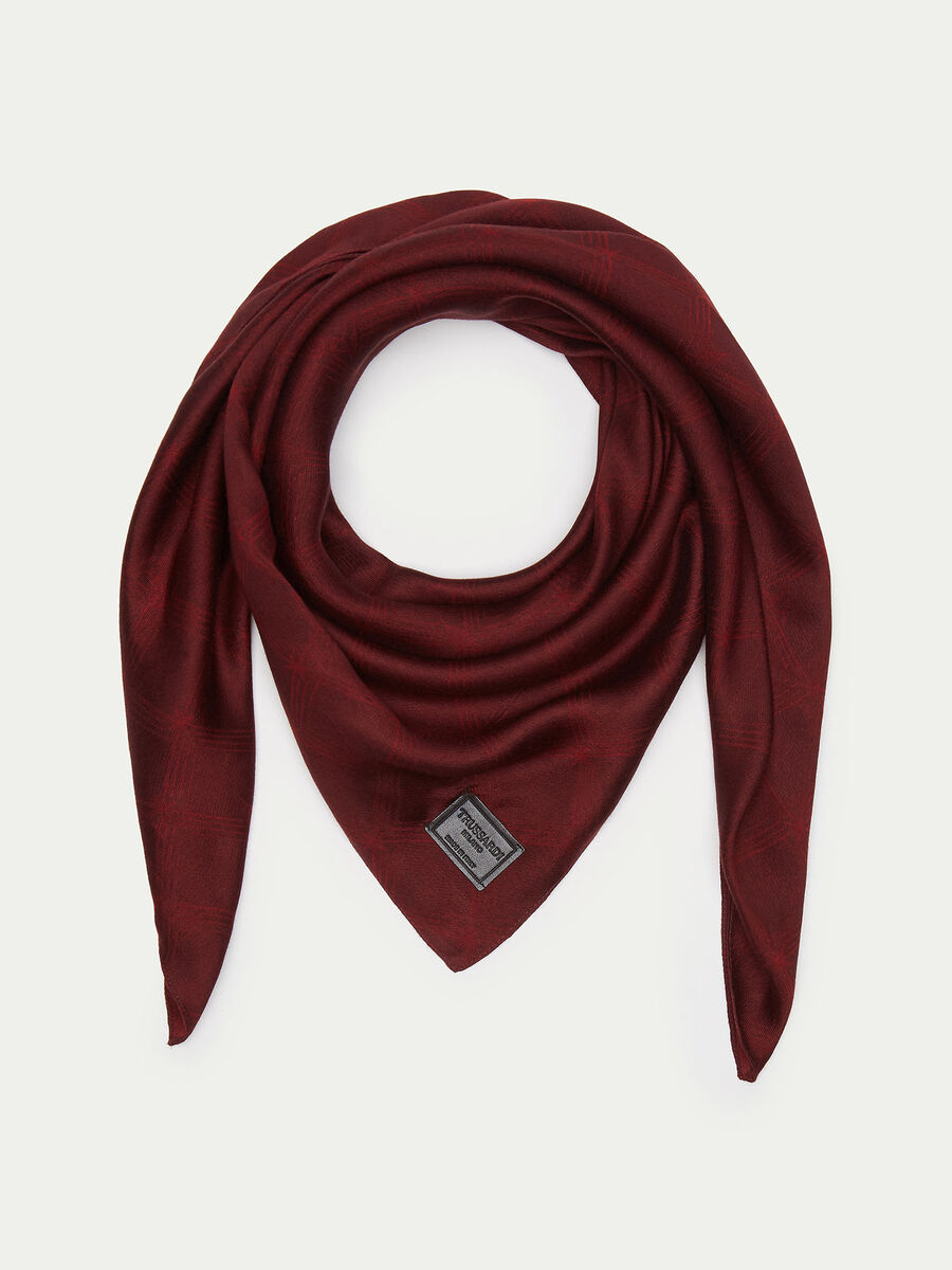 Silk and viscose Monogram scarf
