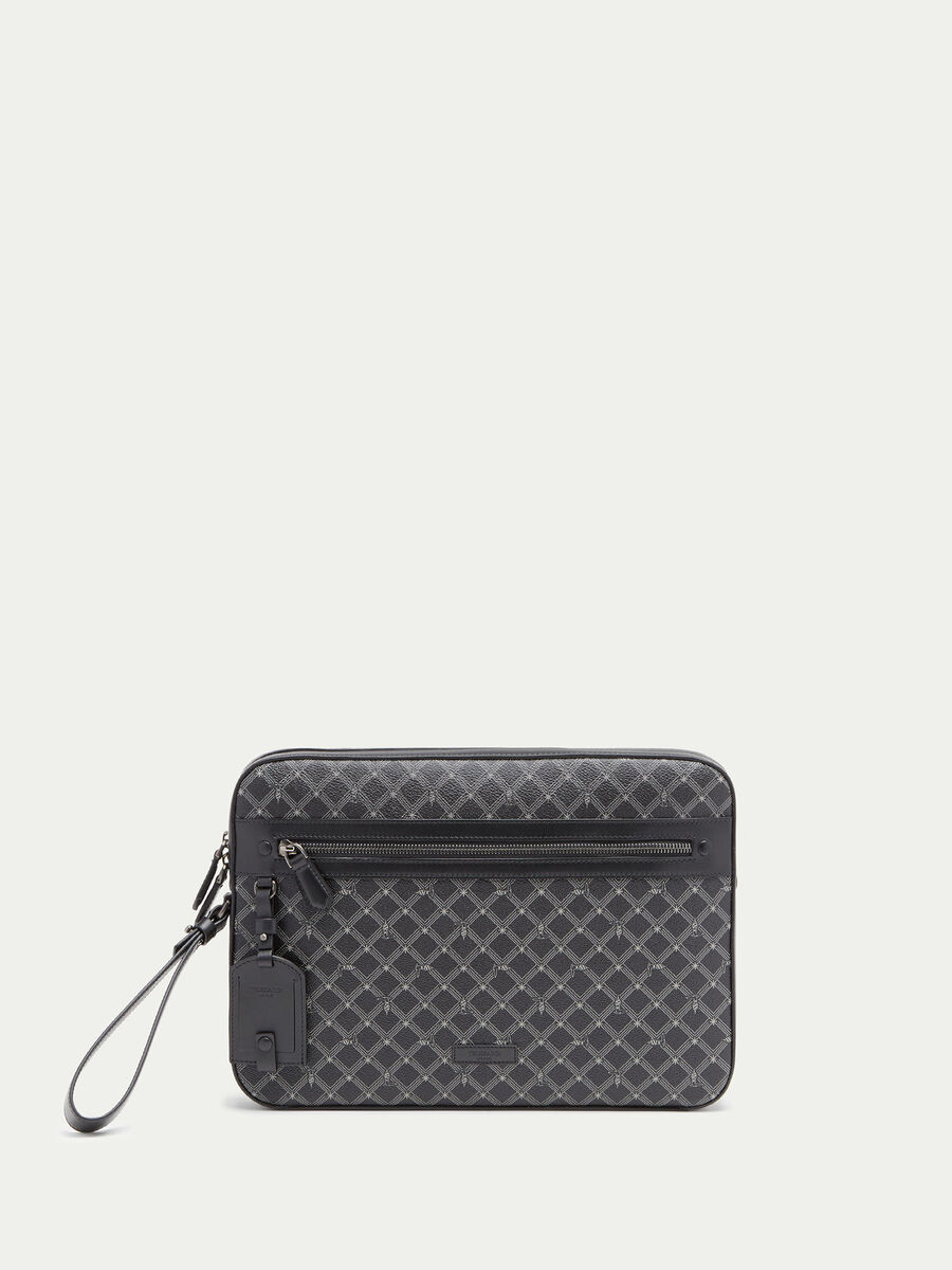 Pochette Monogram medium crespo pelle