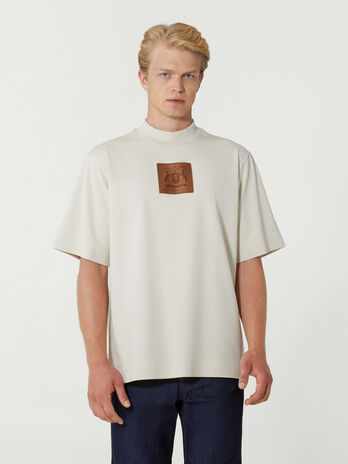 Oversized cotton T-shirt with branded patch