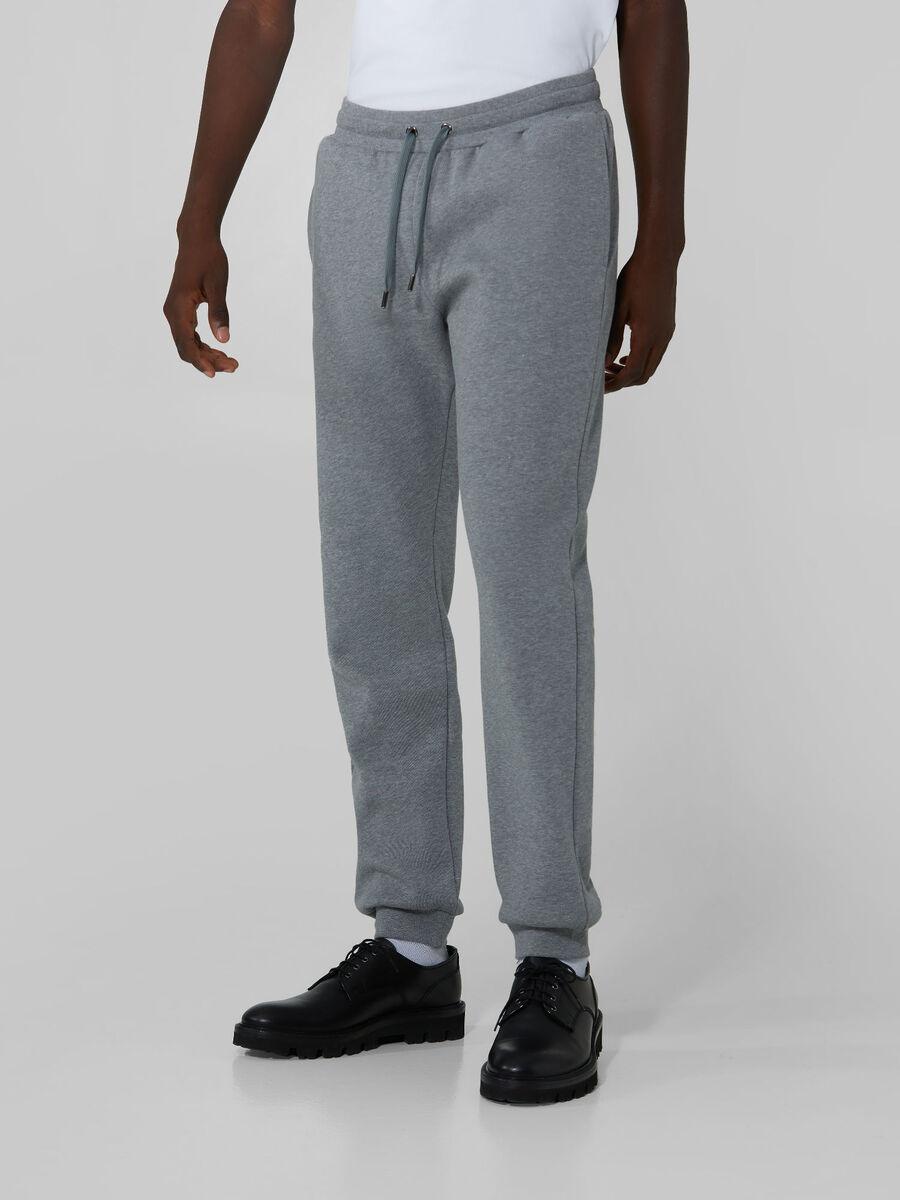 Pantalone regular fit in felpa di cotone