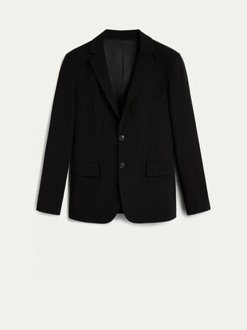 Slim fit stretch technical fabric blazer