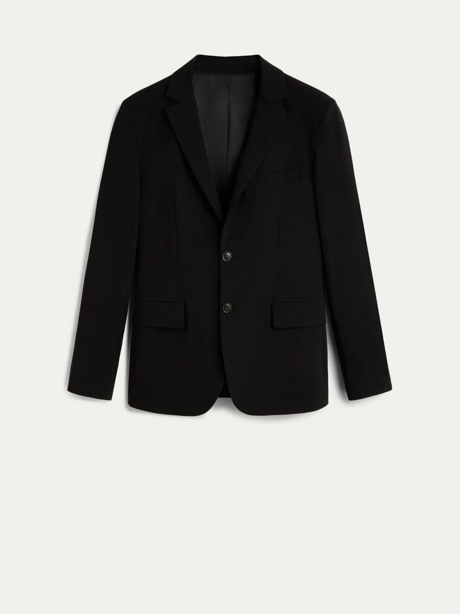 Slim fit stretch technical fabric blazer