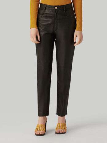 Kansas leather trousers