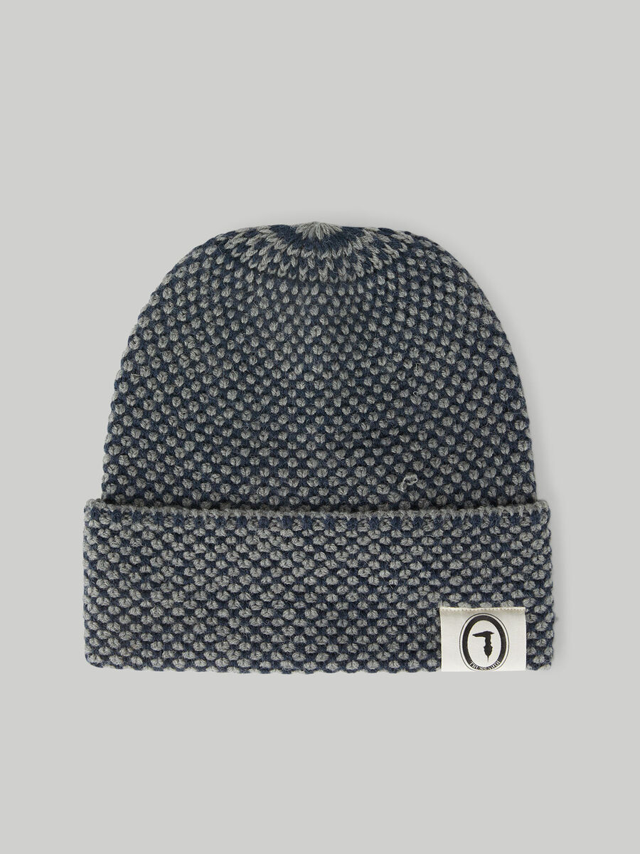 Melange wool-blend hat
