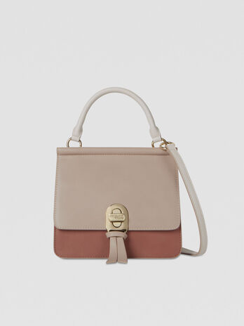 Mya crossbody bag in tri-colour faux leather