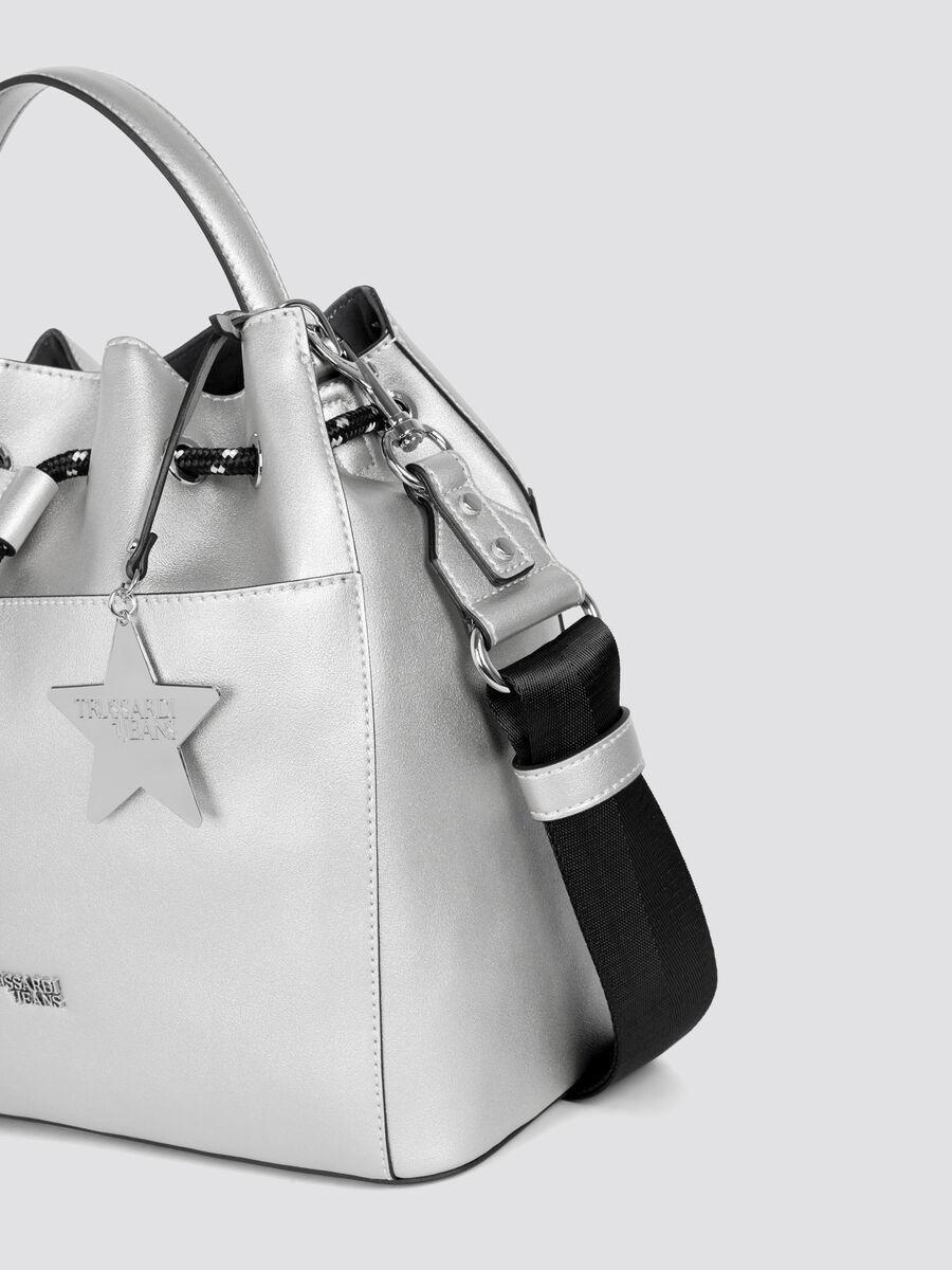 T-Easy Star secchiello small in similpelle charm e logo