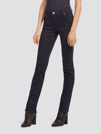 Solid colour classic fit jeans