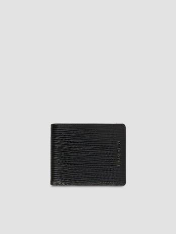 Portafoglio bi-fold Cortina in similpelle saffiano