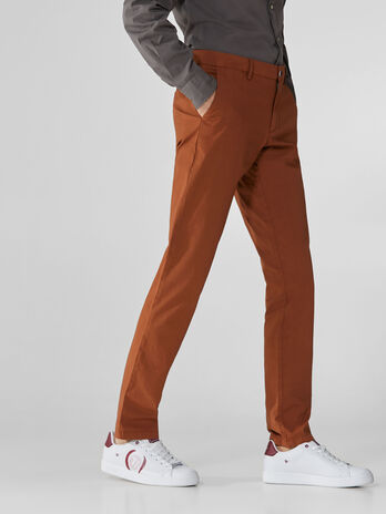 Pantalone aviator fit in popeline di cotone