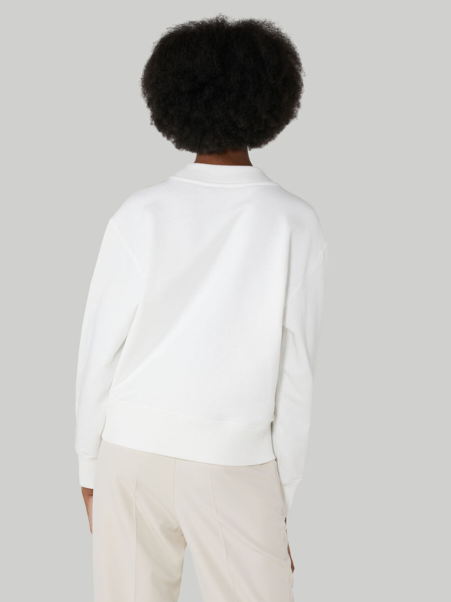 Sweat-shirt coupe boxy en coton a imprime monogramme
