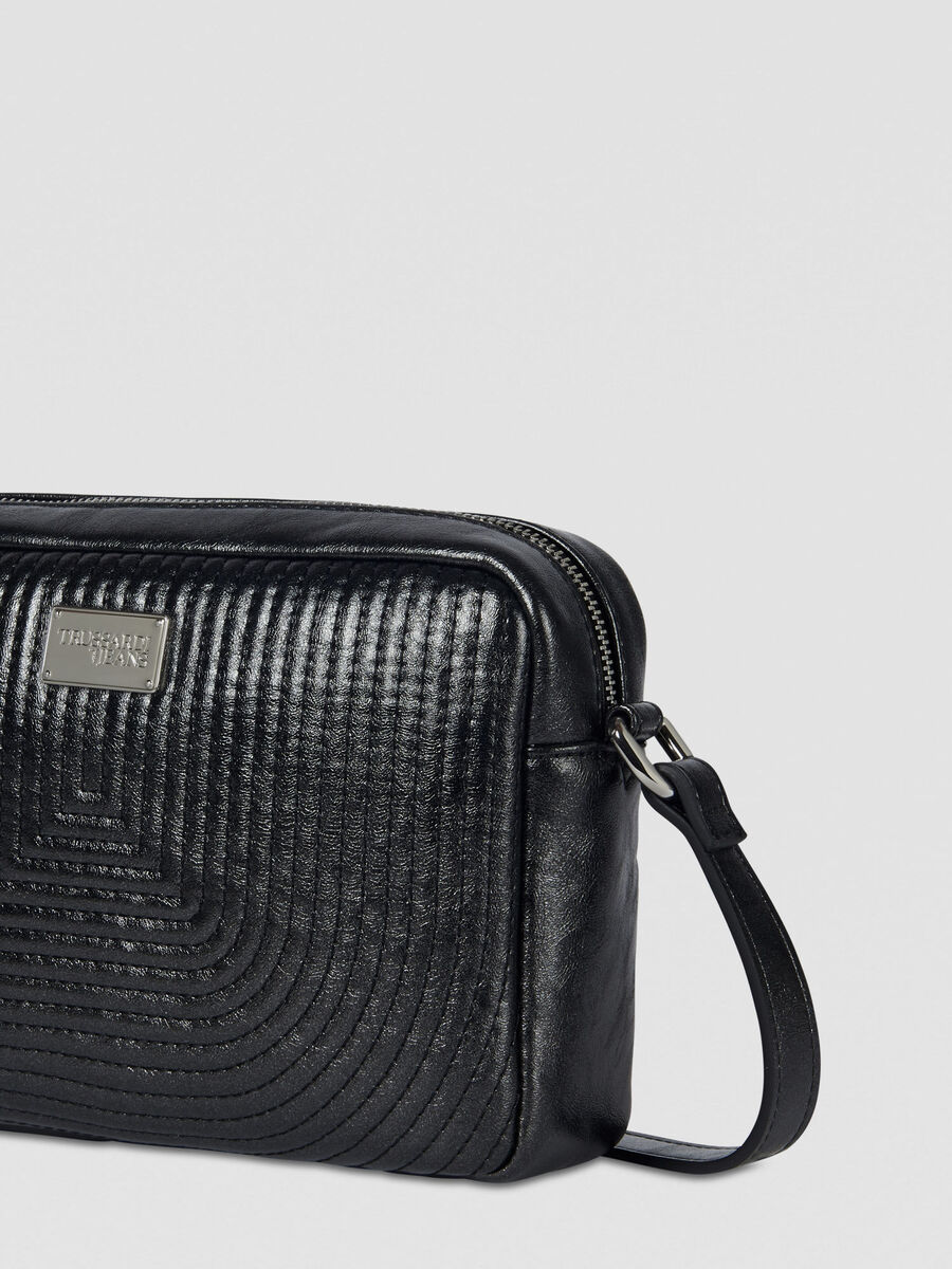 Frida camera bag in laminated faux leather