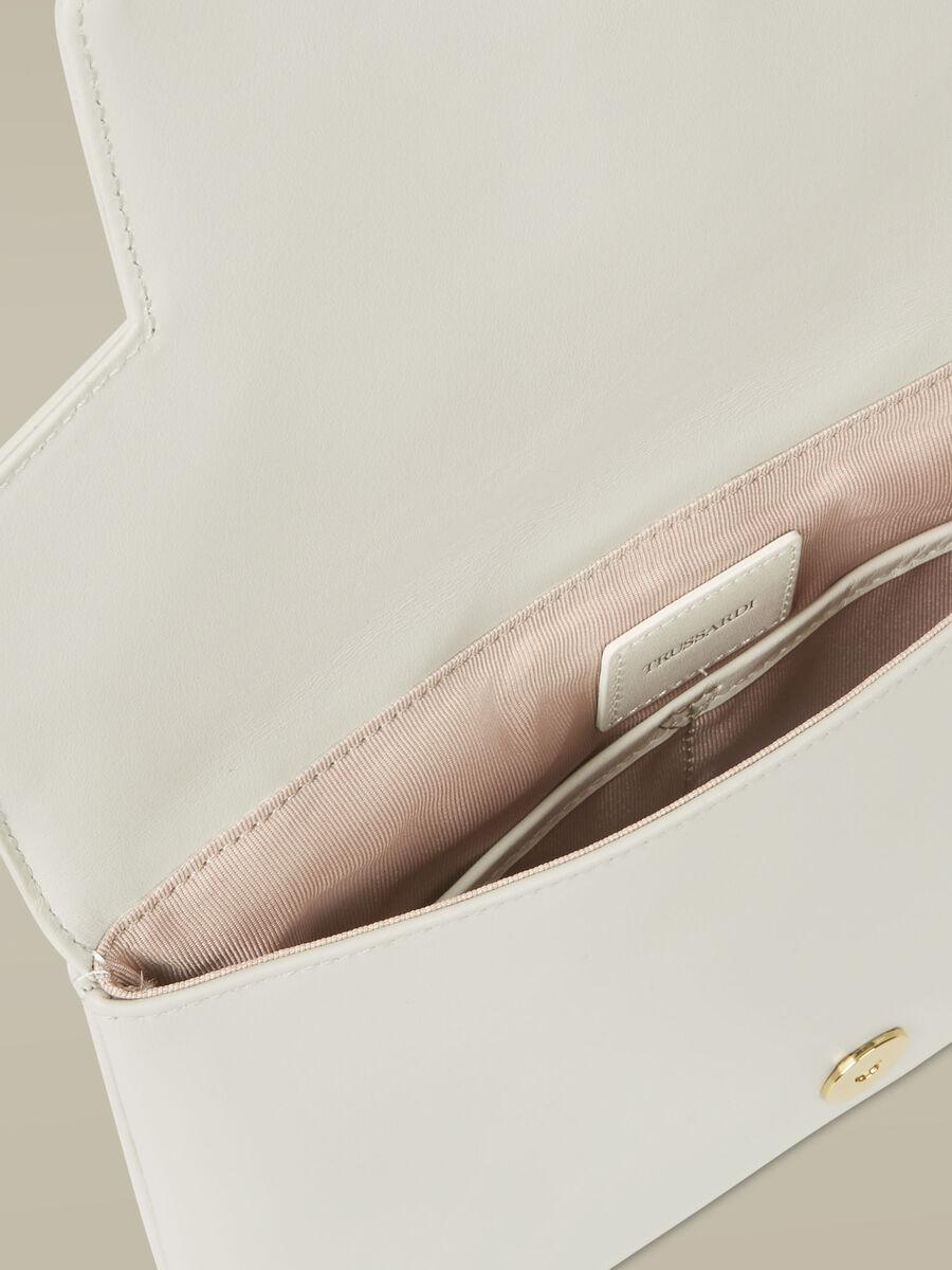 Medium Leila clutch in smooth leather