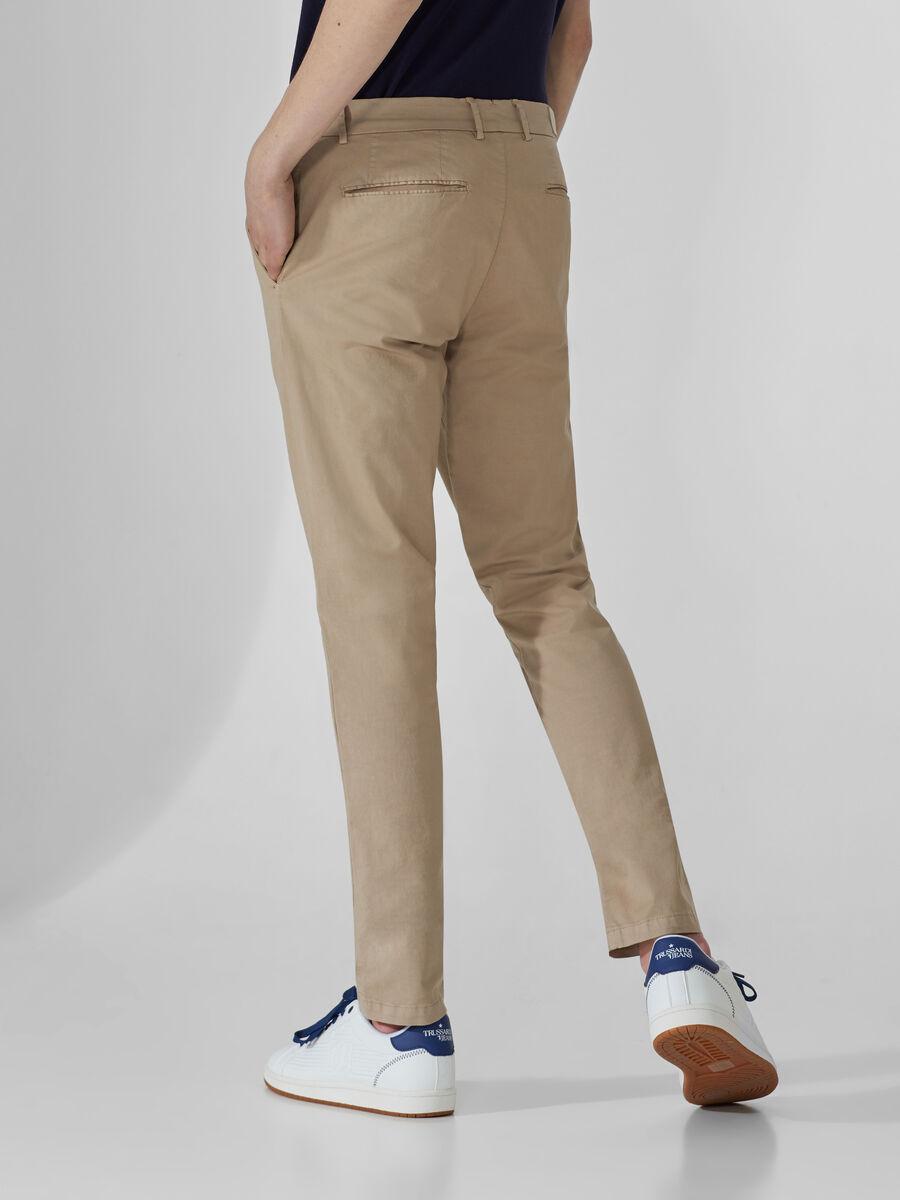 Stretch gabardine Aviator-fit trousers