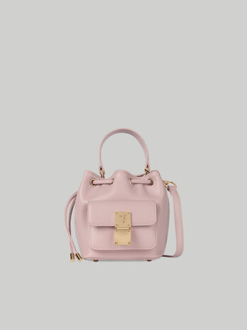 Small Lione bucket bag in faux leather