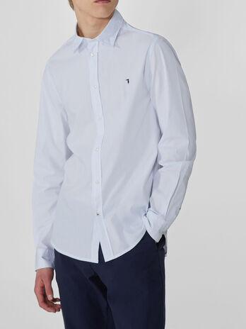 Hemd im Slim-Fit aus Baumwollstretch-Popeline