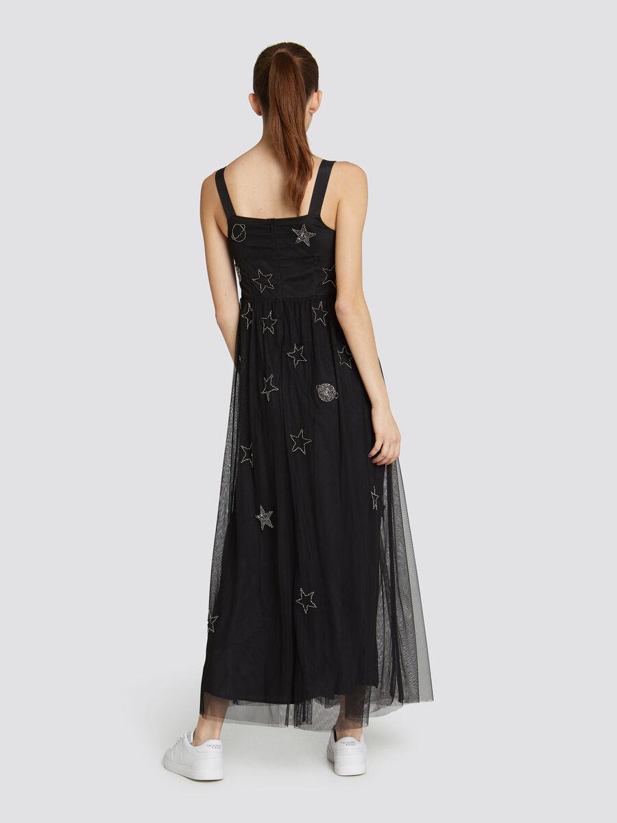 Glittery slim fit tulle minidress