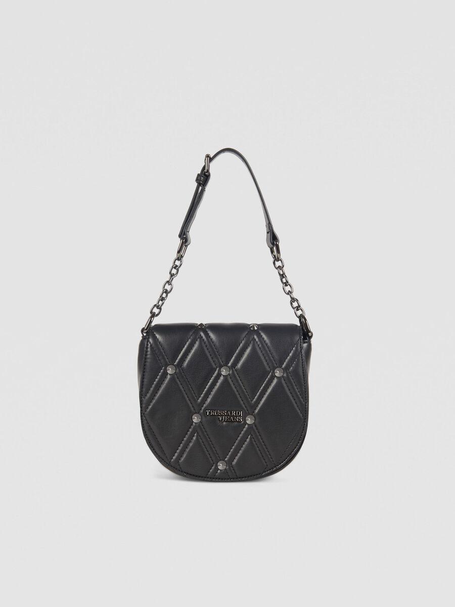 Small T-Cube Q Cacciatora bag in faux leather