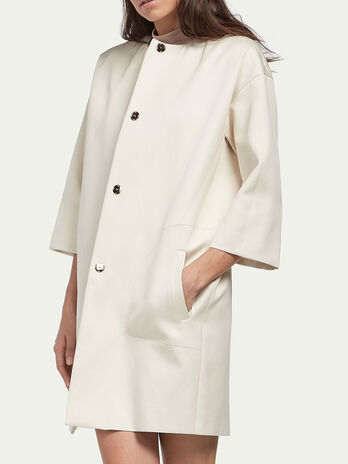 Cappotto ampio in satin di cotone