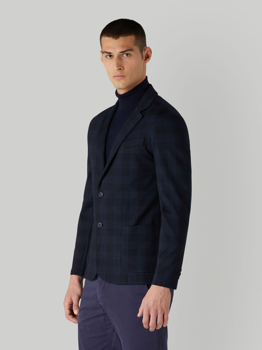 Milano rib jacket with patch pockets