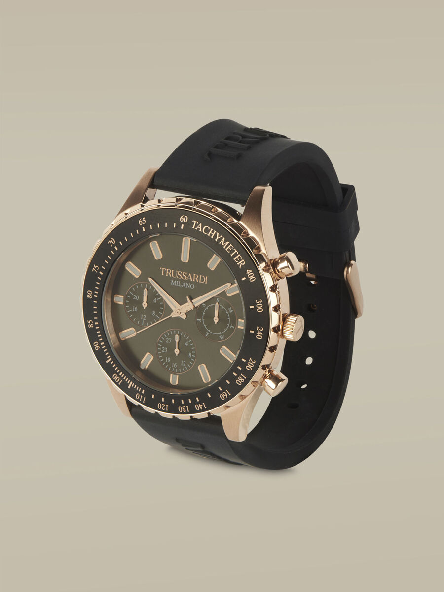 45-MM T-Logo watch with silicone strap
