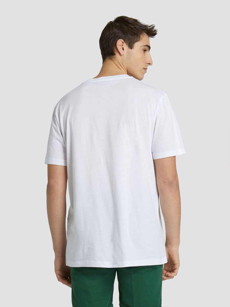 Regular fit jersey T shirt with raised lettering