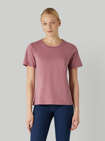 T-Shirt im Regular-Fit aus Jersey mit tonalem Logo