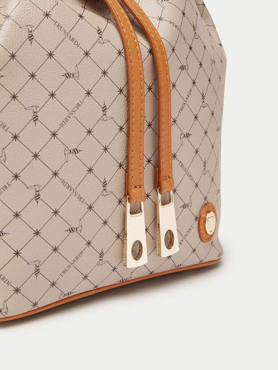 Mini Crespo leather Monogram bucket bag
