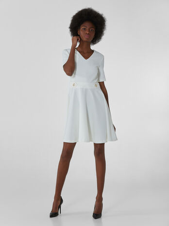 Short dress in light technical fabric