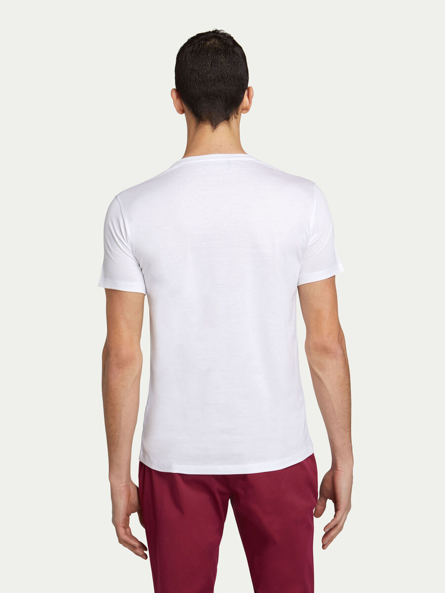 Camiseta de corte regular de punto con inscripcion