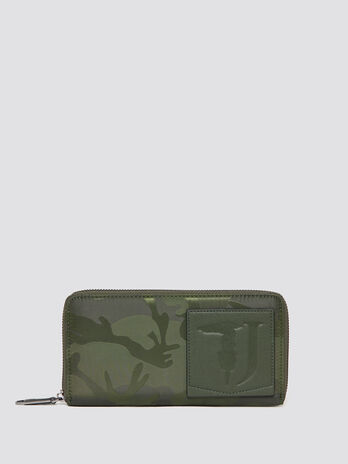Ticinese camouflage wallet with zip
