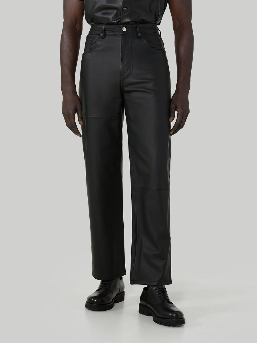 80s trousers in Kansas leather
