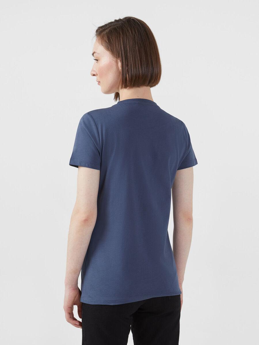 Camiseta de corte regular de punto ligero de algodon
