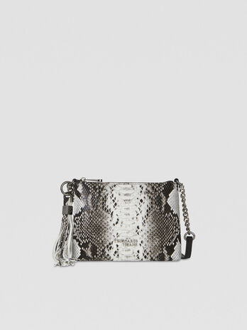 Pouch Iris in similpelle pitone