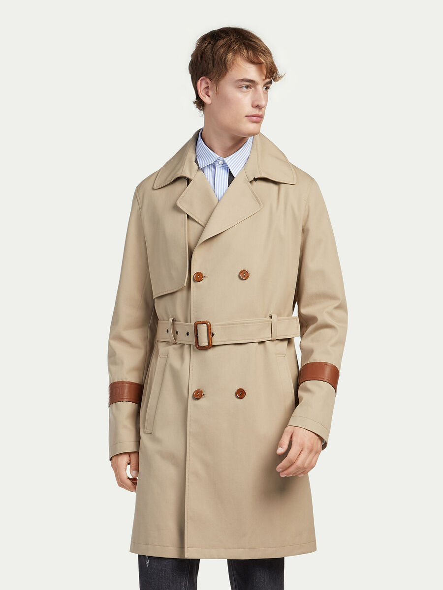 Regular fit gabardine rain coat