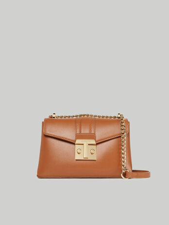 Cross-body Tulip medium in similpelle liscia