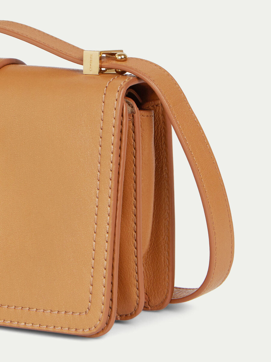 Small Cacciatora Nail shoulder bag solid colour leather