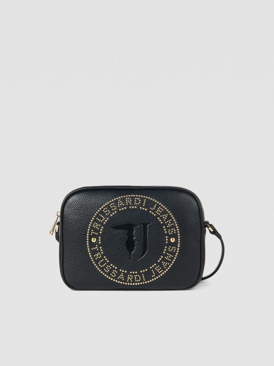 Harper camera case in mini studded faux leather