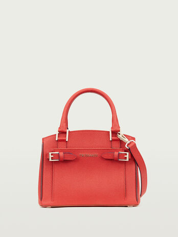 Fibbiette handbag in crespo leather