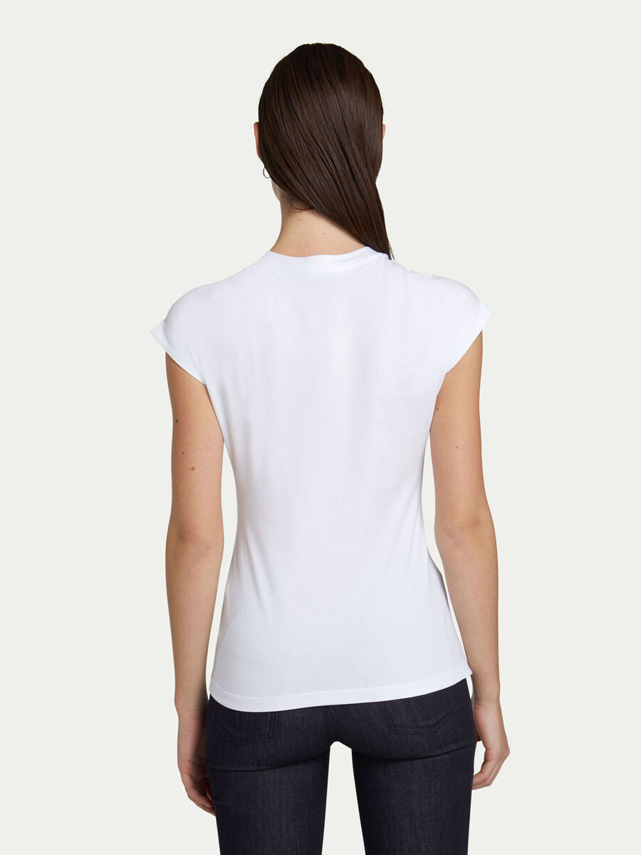 Slim fit cotton jersey T-shirt with logo print