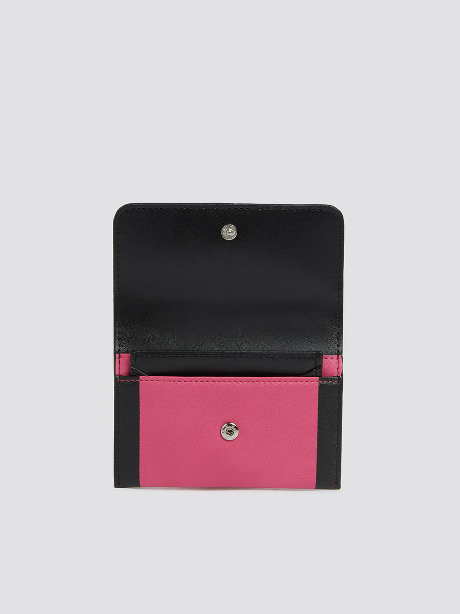Small two tone With Love bifold card case with logo