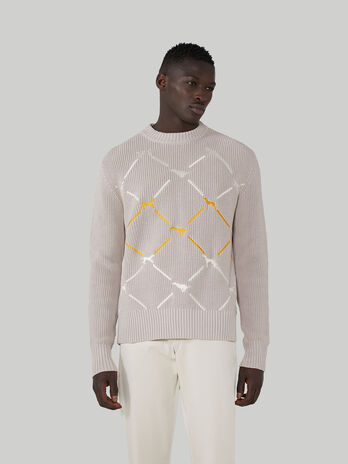 Regular-fit cotton crew-neck pullover