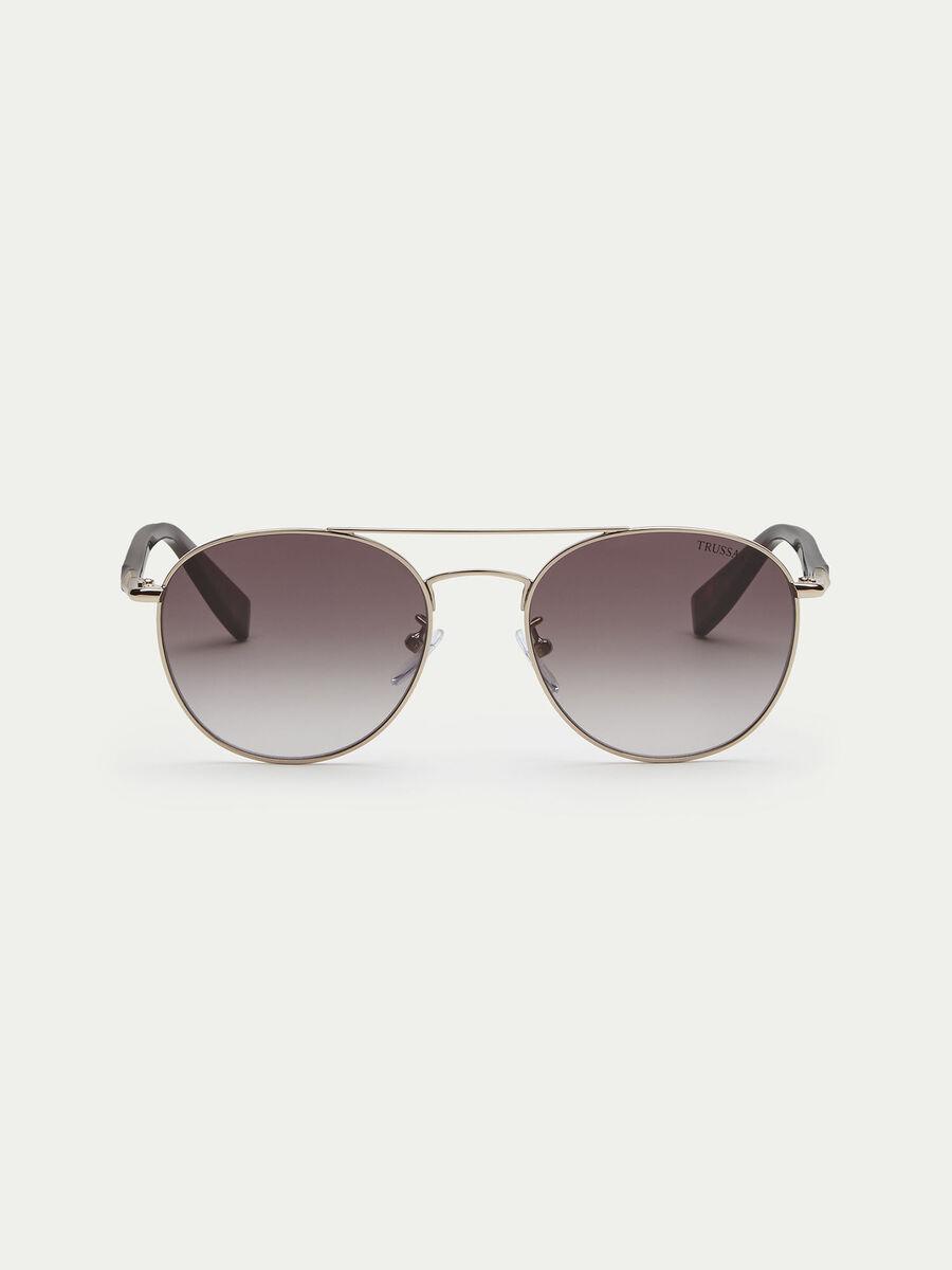 Gafas de sol con varillas efecto carey