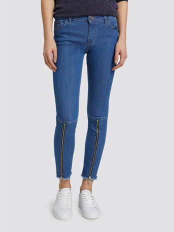 Super skinny Seasonal 206 jeans with zip detail