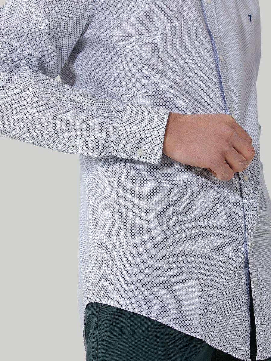 Slim-fit printed poplin shirt