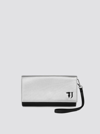 T-Easy city mini clutch two tone metallic faux leather