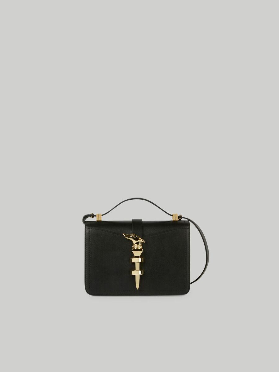 Small leather Leila crossbody bag