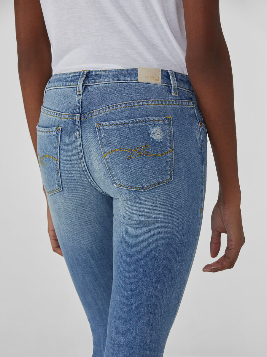 Cropped-Jeans 260 Fantasy aus Soft-Denim